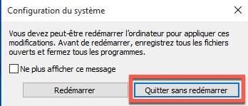 Désactiver une partie de la mémoire vive RAM sous Windows 10 avec MSconfig