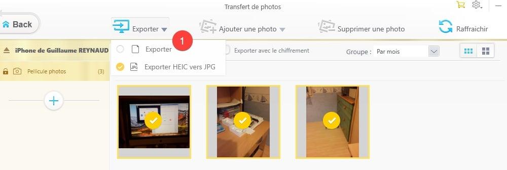 Exporter vos photos vers votre PC depuis votre iPhone avec WinX MediaTrans