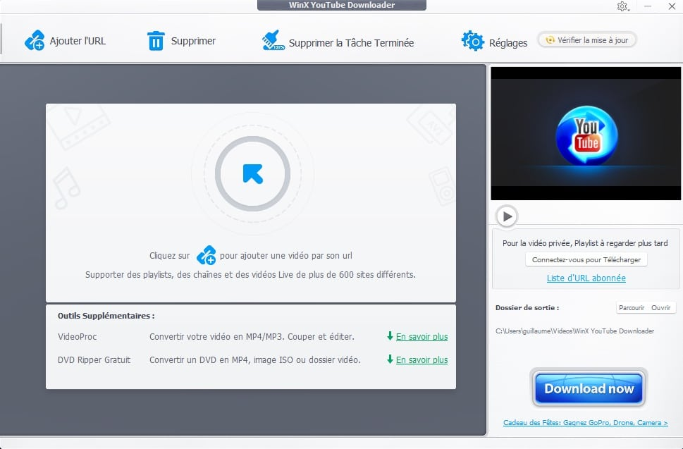 Comment télécharger une playlist YouTube en 3 étapes avec WinX YouTube Downloader