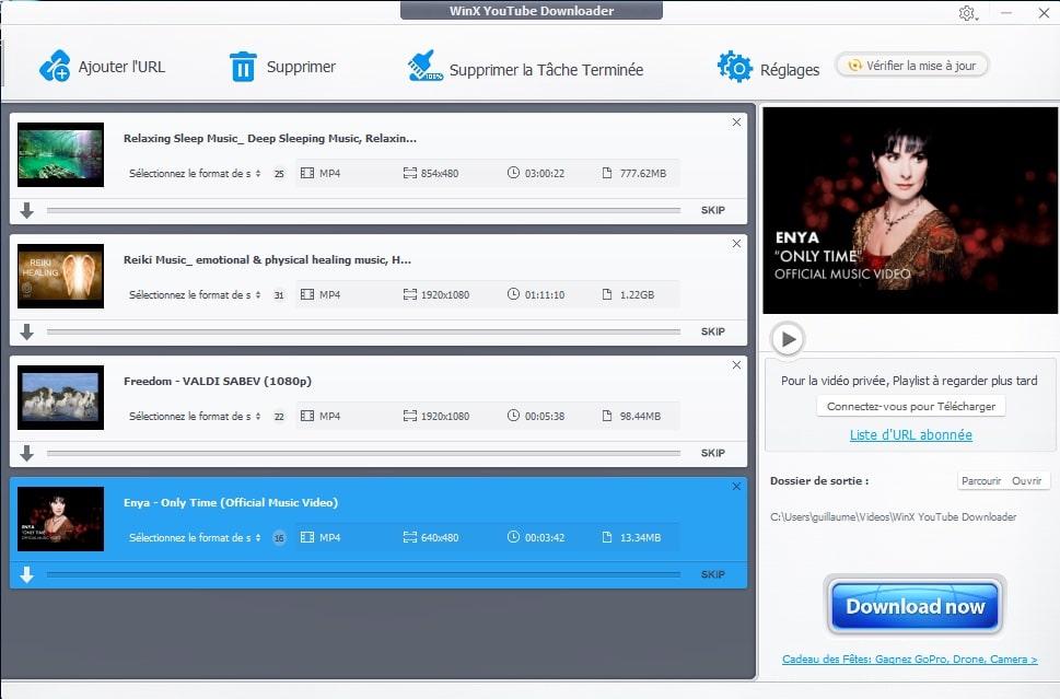 Cliquez sur le bouton Download Now pour Télécharger vos vidéos avec WinX YouTube Downloader