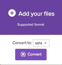 Convertisseur en ligne MP4 en MOV avec media.io