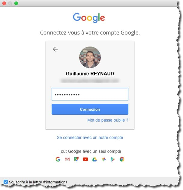Ajouter un compte Gmail dans Airmail