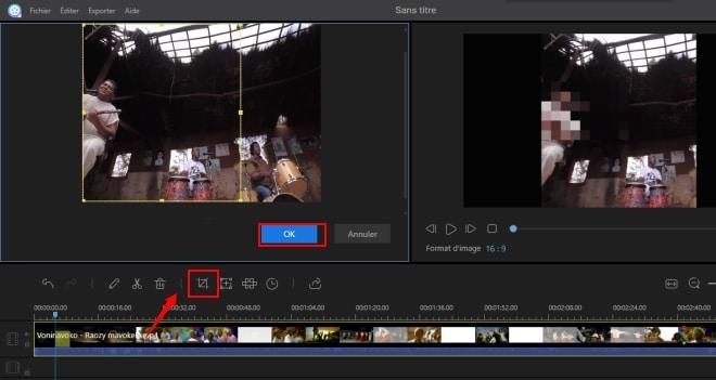 Recadrer une video pour supprimer des éléments superficiels avec ApowerEdit