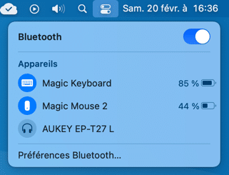Réinitialiser les réglages Bluetooth sur un Mac.