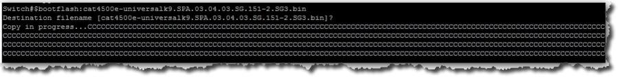 Copier le firmware de votre clé USB vers votre carte supervisor de votre switch Cisco.