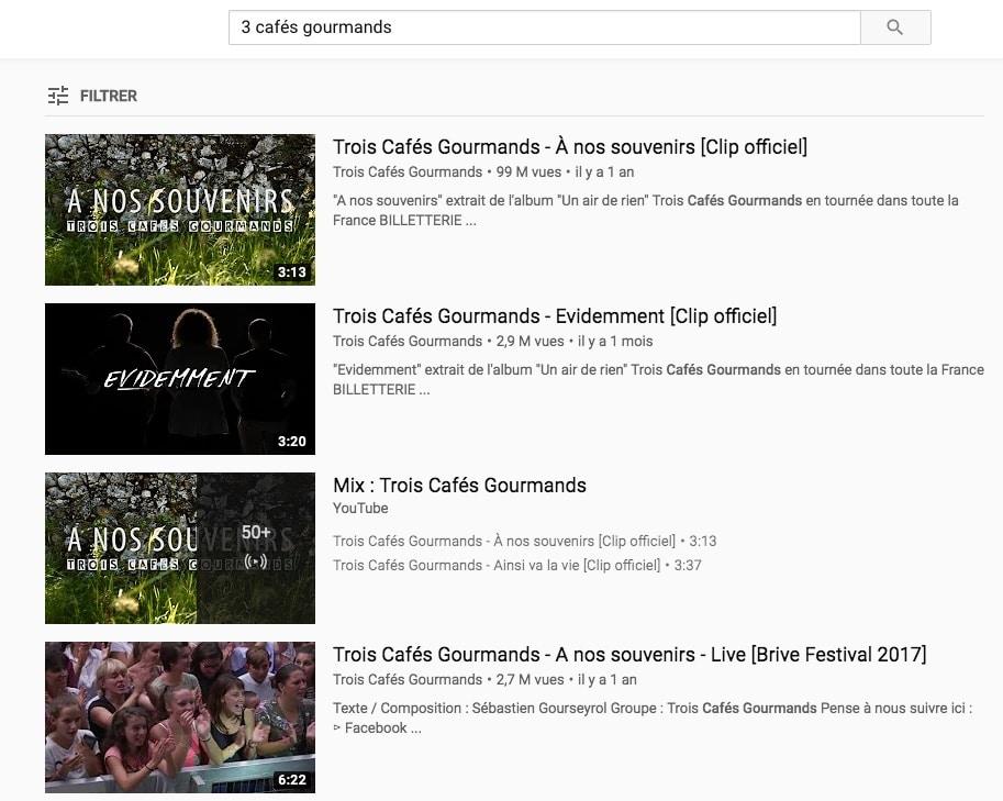 Allez sur Youtube et faites une recherche d'un titre que vous souhaitez puis faites un copier-coller de l'adresse de la vidéo.