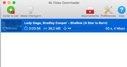 Récupérer une vidéo sur Youtube avec 4K Video Downloader