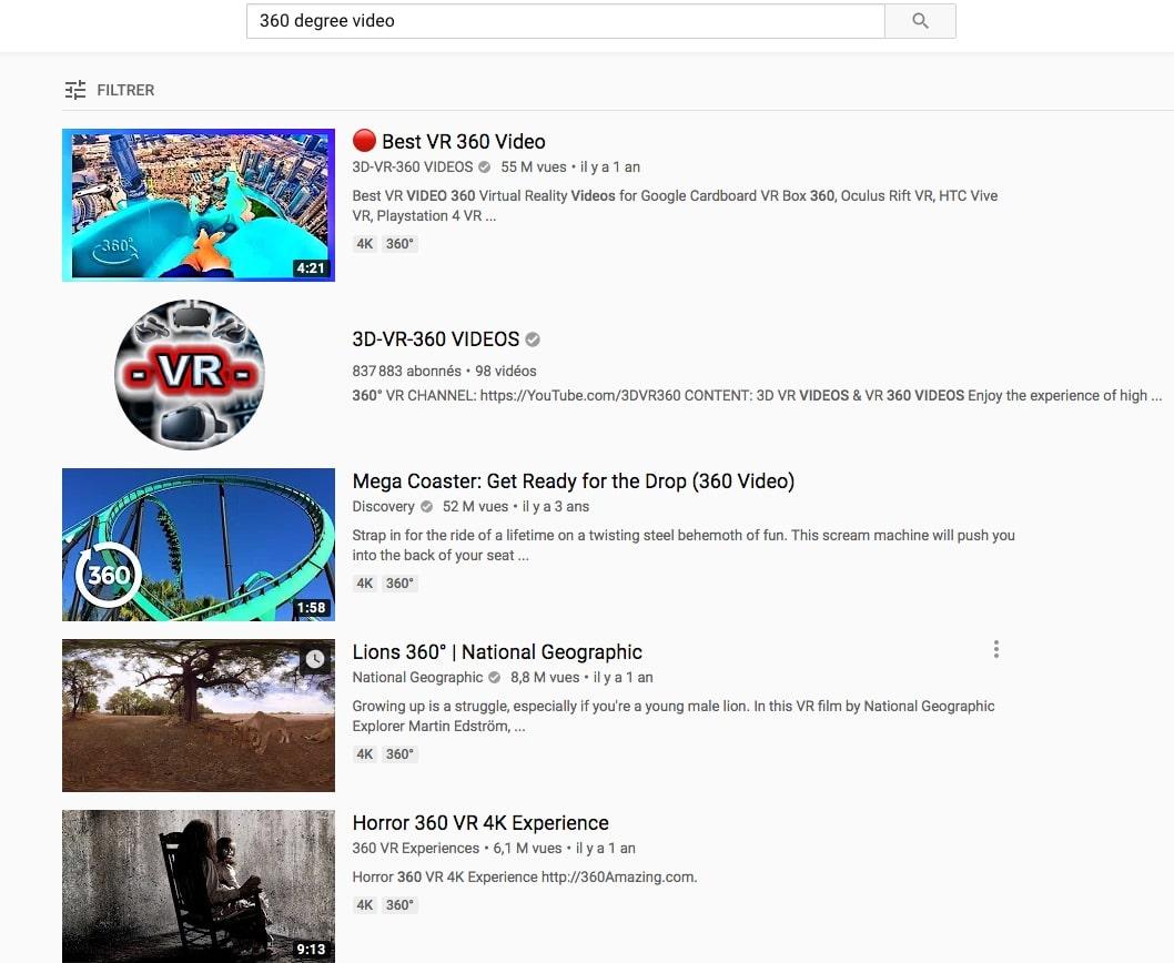 Télécharger des vidéos Youtube à 360° sur Youtube
