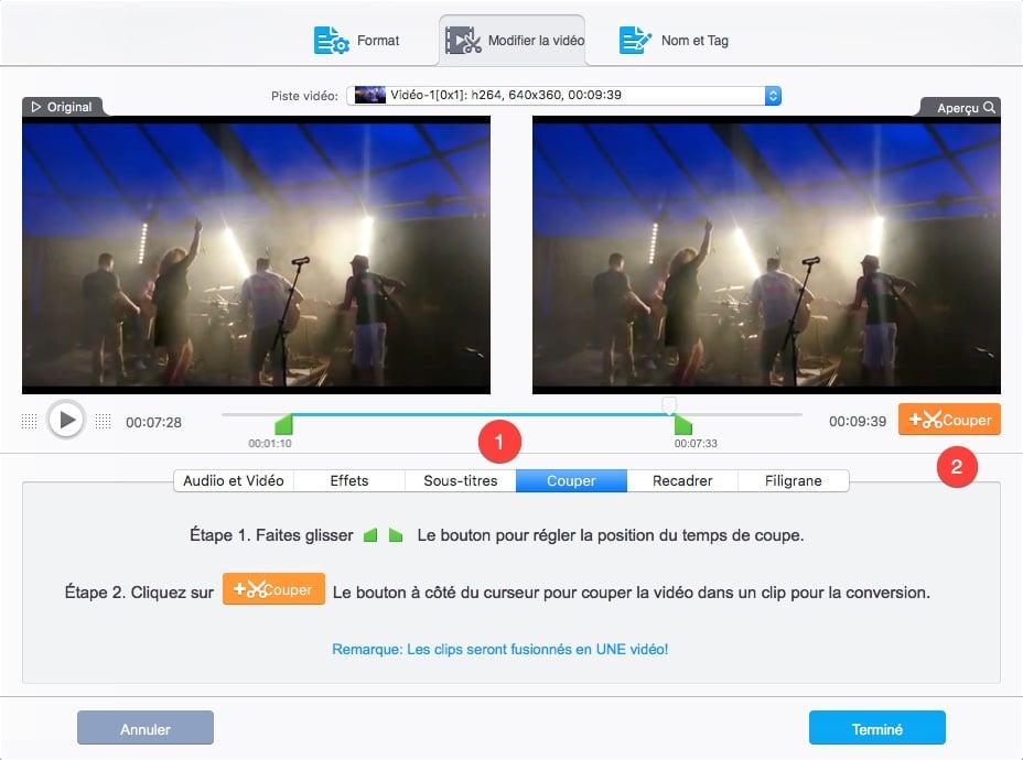 Comment couper une vidéo avec VideoProc.