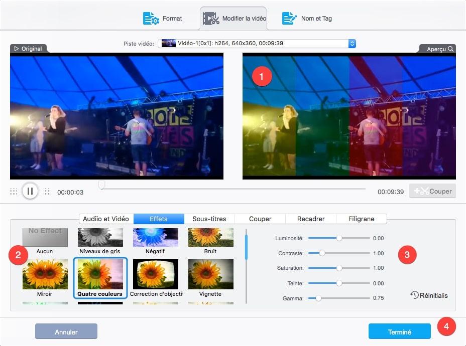 Appliquer des effets sur votre Vidéo avec VideoProc