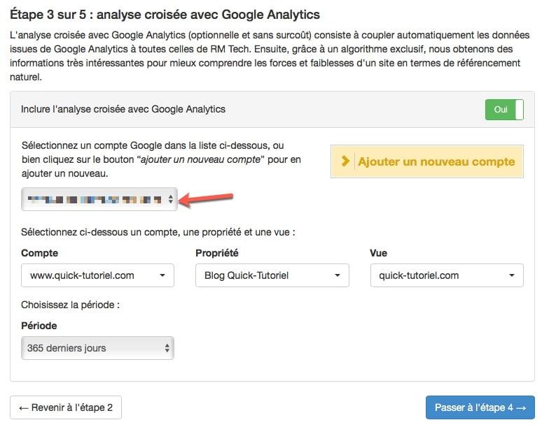 Analyse croisée avec Google Analytics et RM Tech