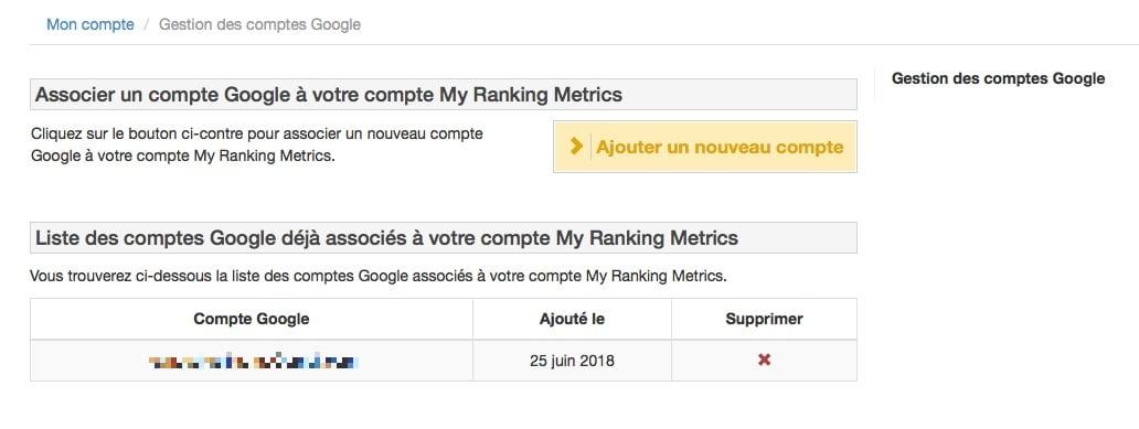 Lié votre compte Google Analytics à RM Tech pour une analyse plus approfondie.