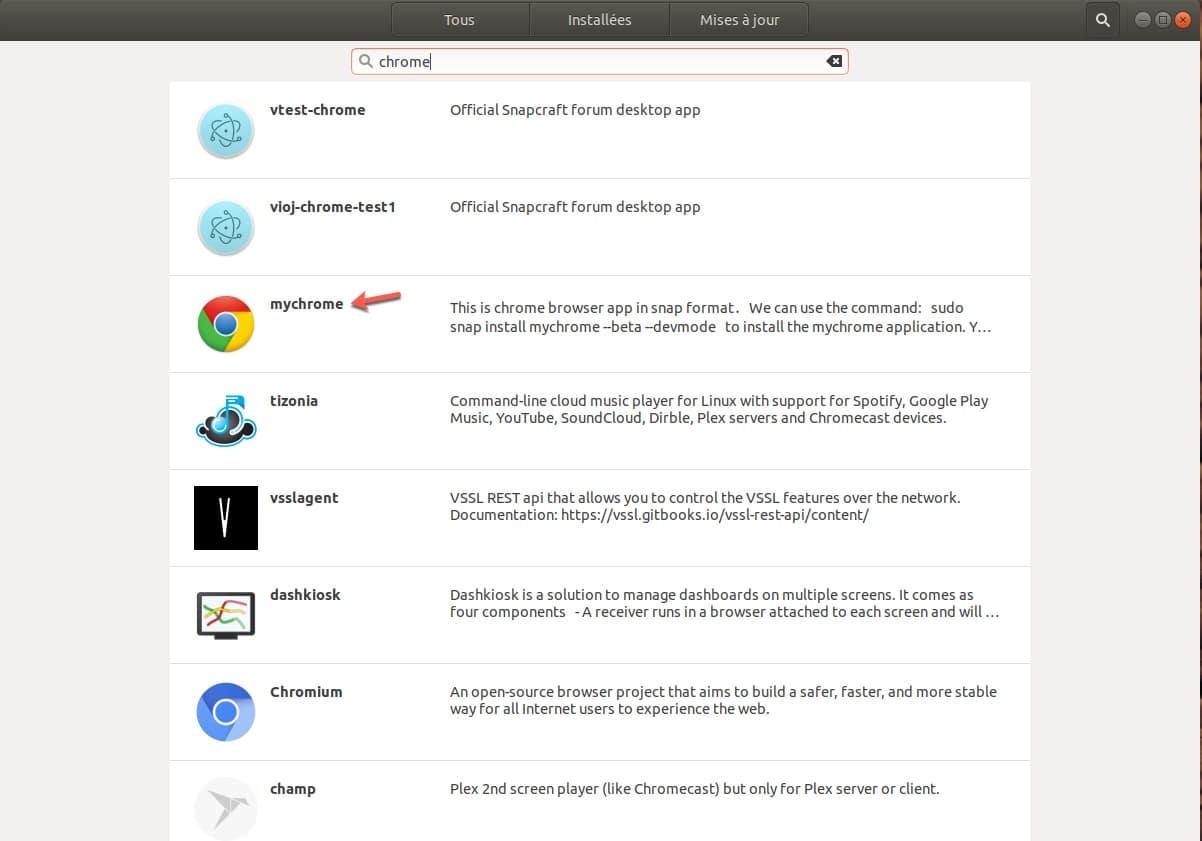 Installer un logiciel depuis le nouveau centre de logiciels de Ubuntu.