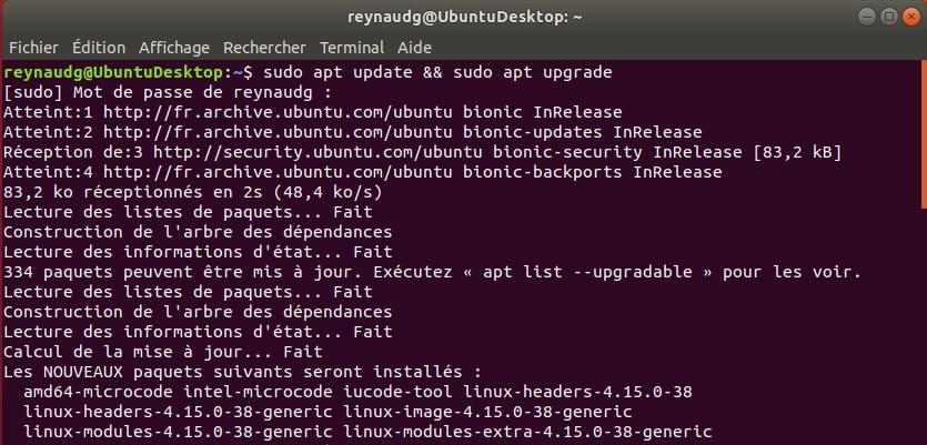 Mettez à jour votre système Ubuntu en ligne de commande avec la commande apt update