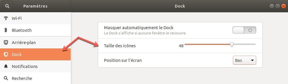 Personnaliser le dock de Ubuntu.