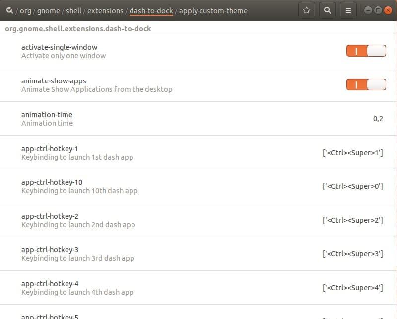 Installer dconf-editor la base de registre de Ubuntu