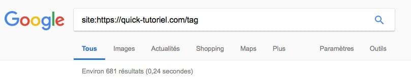 Connaitre les tags indéxé par Google pour votre blog