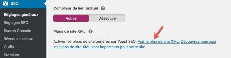 Vérifier le contenu de votre fichier sitemap.xml de votre blog WordPress