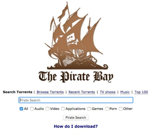 The Pirate Bay est un des meilleurs site de Torrent au monde.