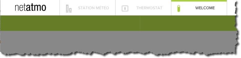 L'interface web Netatmo regroupe tous les produits de la marque Station Météo, Thermostat, Caméra de videosurveillance.