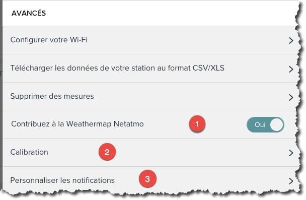 Paramétrage avancés de vos modules de votre station météo Netatmo.