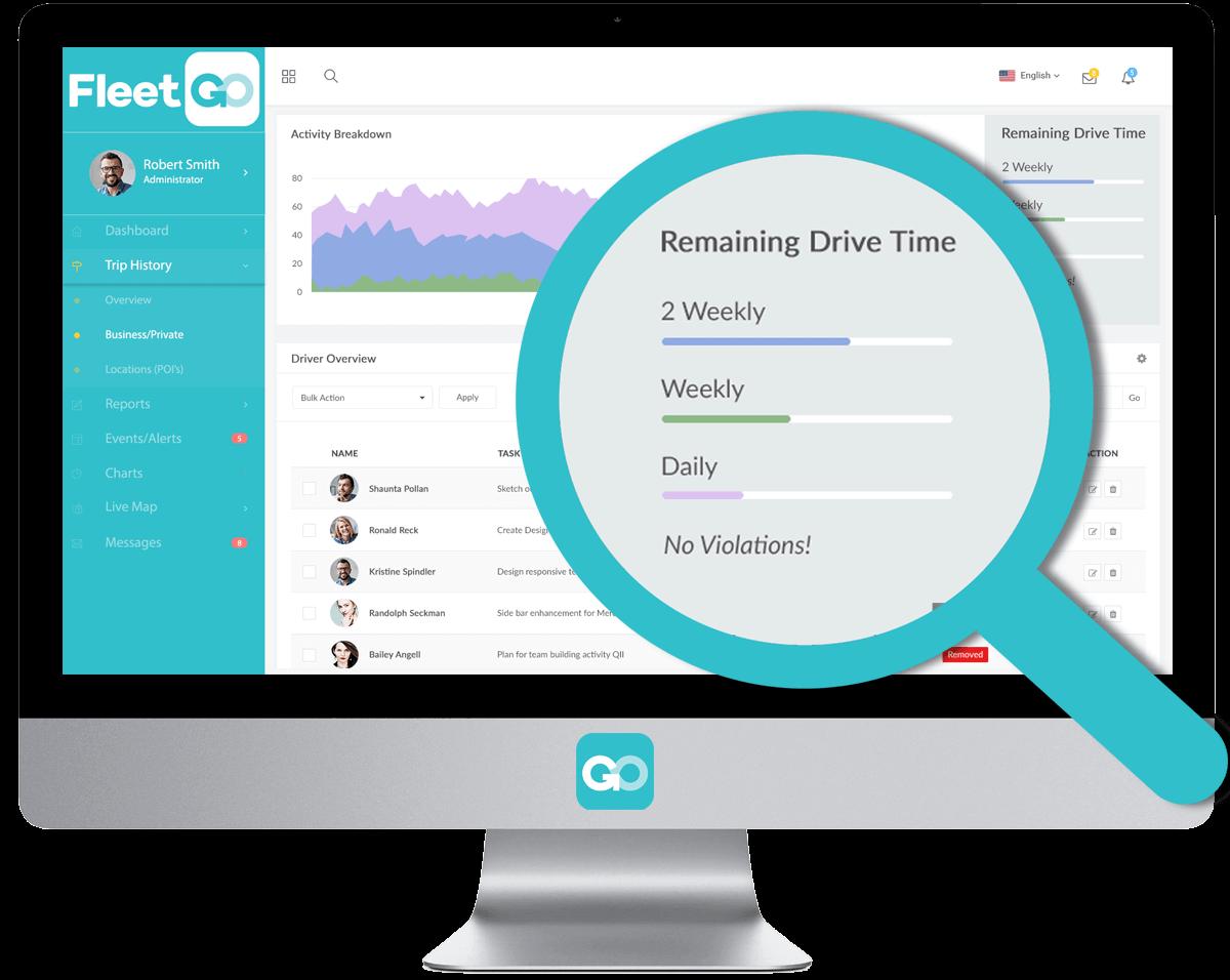Téléchargement automatique des données chronotachygraphes des routiers avec FleetGo.