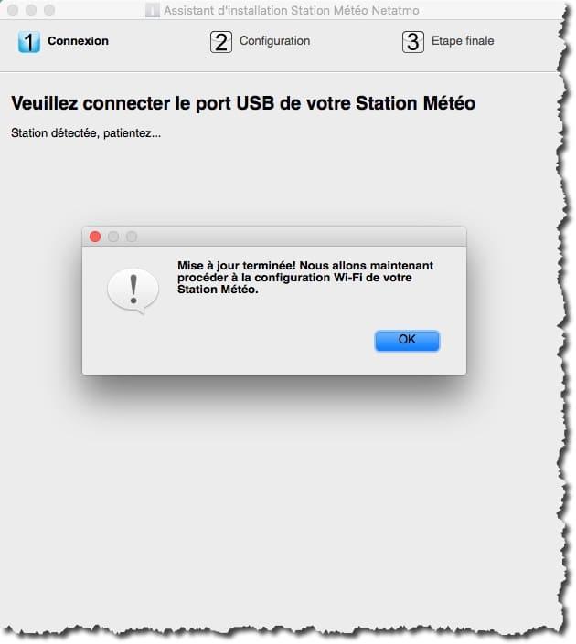Utiliser l'assistant NetatmoWizard pour configurer votre station météo.