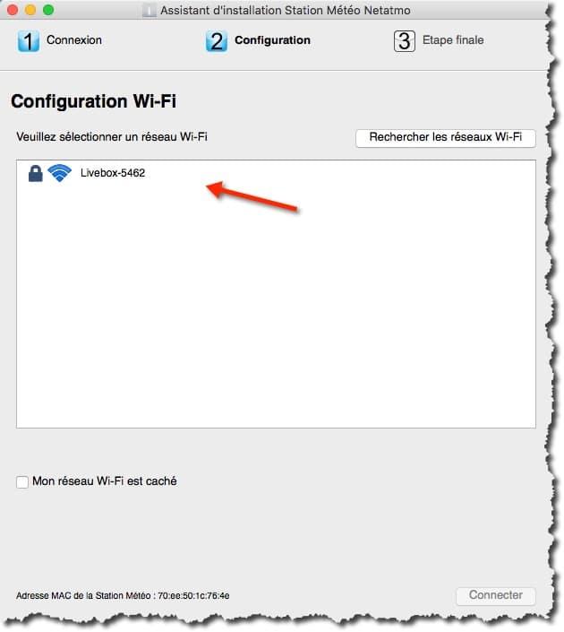 Connecter votre station météo Netatmo à votre WIFI.