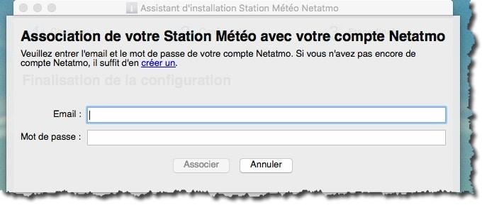 Associer votre station météo Netatmo à votre compte Web Netatmo.