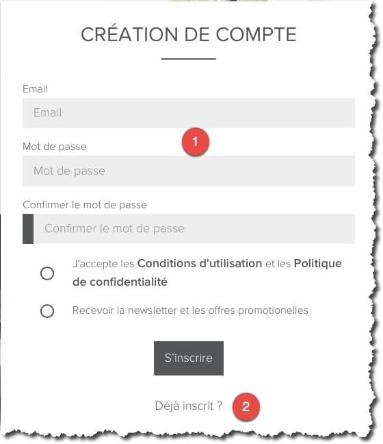 Création d'un compte web Netatmo pour utiliser leur cloud.