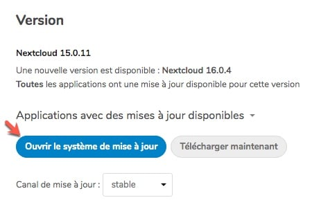 Mettre à jour Nextcloud V15 vers la V16 depuis Ubuntu 16.04 avec PHP 7.1