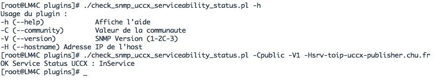 script PERL Check_snmp_uccx_serviceability_status.pl qui permet de superviser l'état du cluster UCCX entre le publisher et le subscriber