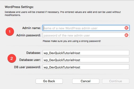 Ajouter un hôte WordPress à MAMP Pro