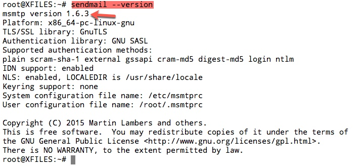 msmtp sera bien le logiciel utilisé pour envoyer des mails et non pas sendmail