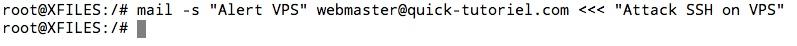 envoie d'un mail en ligne de commande avec la commande mail