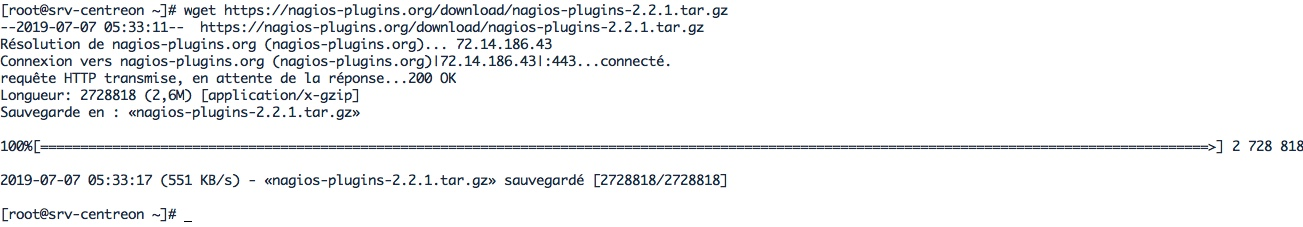 Installer les plugins Nagios pour Centreon