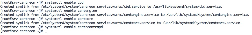 Activer les services de Centreon au boot du serveur