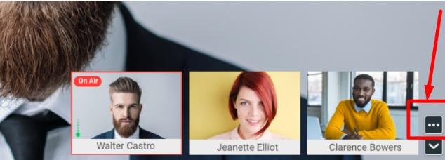 Vous pouvez épingler un participant en cliquant sur l'image du participant dans Proficonf