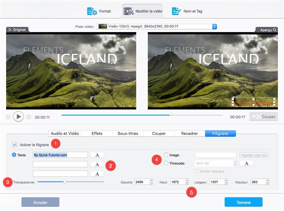 Ajouter un filigrane à une vidéo avec VideoProc