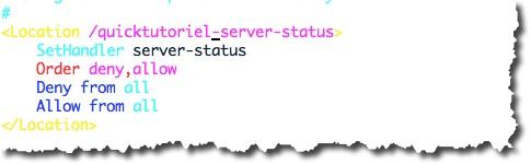 modifier l'adresse de la page Server Status de votre serveur pour la protéger