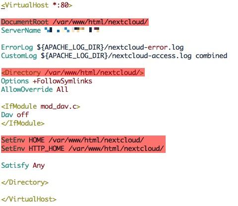Configuration avancée du fichier nextcloud.conf pour Nextcloud