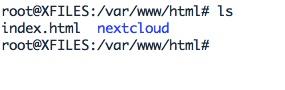Installation de Nextcloud dans les dossiers d'Apache.