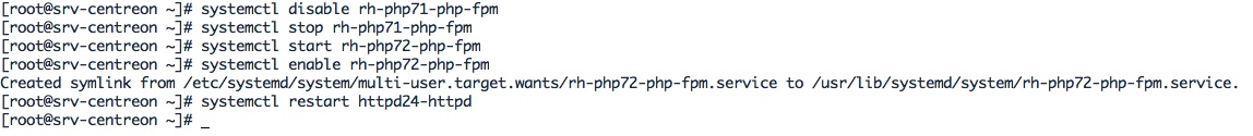 Configuration de PHP7.2 pour Centreon