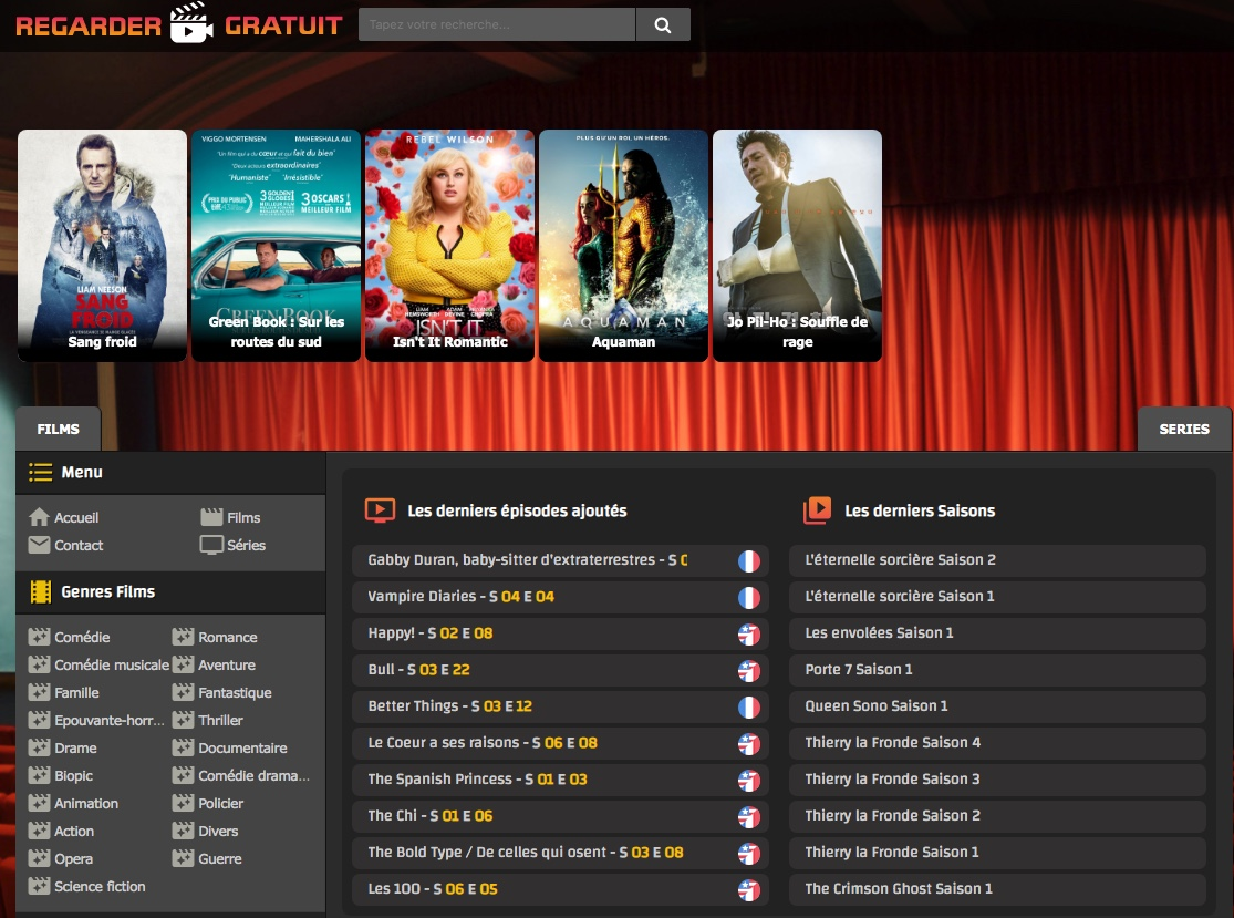 SIte de streaming RegarderGratuit