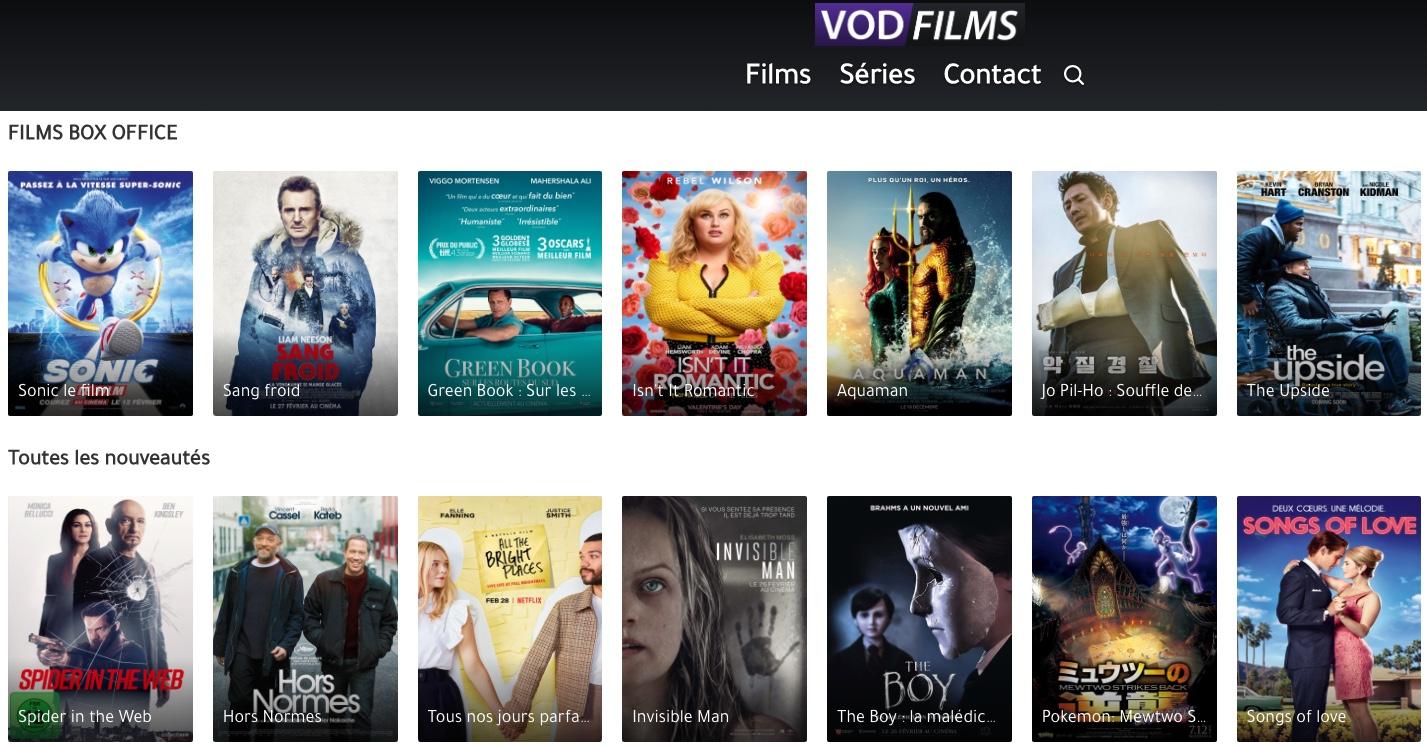 VodFilms est une plateforme de streaming