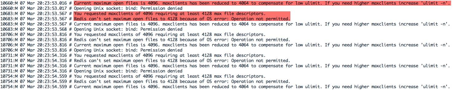 Lire le fichier de log de redis-server peut servir pour comprendre une erreur
