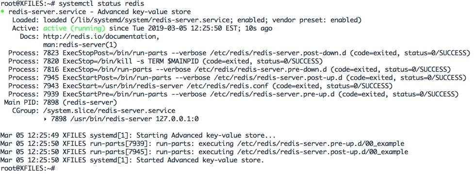 redémarrer le service Redis-Server