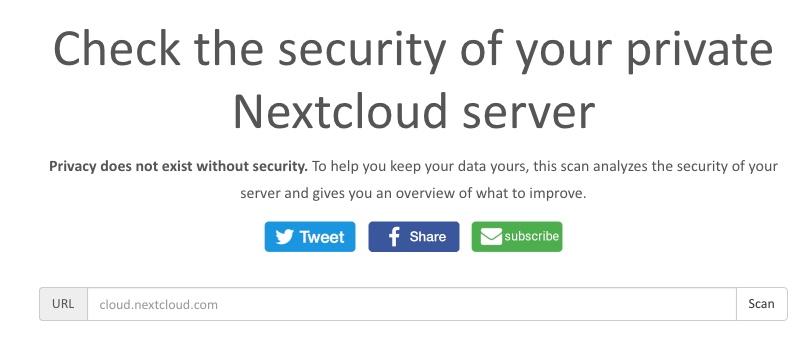 Vérifier la sécurité de votre Nextcloud