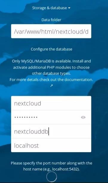 Configurer la base de données utilisateurs de Nextcloud