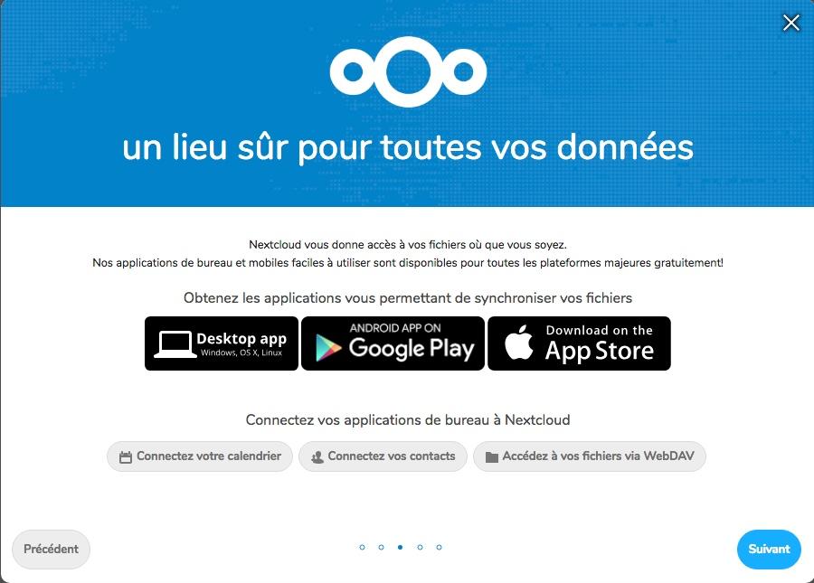 Téléchargement des applications mobiles pour Nextcloud